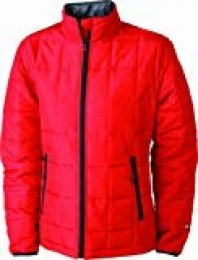 James & Nicholson Steppjacke Padded Light Weight Chaqueta, Mujer, Rojo (Red/Black), Small (Talla del Fabricante: Small)
