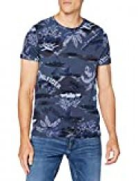 Tommy Hilfiger Summer Allover Print tee Camiseta Deporte, Azul (Faded Indigo), Medium (Talla del Fabricante:) para Hombre