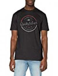Quiksilver Mental Notes T-Shirt Men Camiseta de Manga Corta, Hombre, Gris (Charcoal Heather), XS