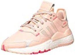Adidas Nite Jogger J, Zapatillas de Gimnasio Unisex Niños, Vapor Rosa/Plata Met./Real Pink S18, 38 2/3 EU