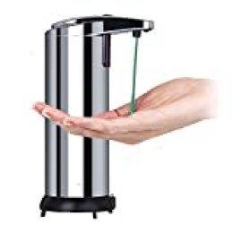 YUNFUN Dispensador de Jabón Automático, 280ML Dispensador de Jabón Sensor de Movimiento Inteligente con Acero Inoxidable para Baño, Cocina