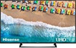 Hisense H55BE7200 - Smart TV 55' 4K Ultra HD con Alexa Integrada, Wifi, HDR, Dolby DTS, Peana Central, Procesador Quad Core, Smart TV VIDAA U 3.0 con IA, compatible con dispositivos Echo