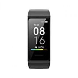 """Xiaomi Mi Smart Band 4C, pantalla a color de 1.08 """", seguimiento de actividad, monitoreo de salud, asistente de mensajes, resistencia al agua (negro)"""