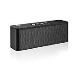 Altavoces Bluetooth, BARA S5 Bluetooth 4.2, Estereo HD, al Aire Libre Portátil, con Audio y Manos Libres, Unidad Dual Altavoz Bluetooth Inalámbrico, Es idea para Hogar, Fiesta, Coche, Viajes (Black)