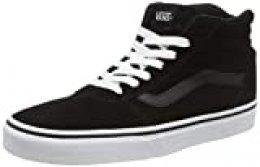 Vans Ward Hi, Zapatillas Altas para Mujer Negro ((Suede) Black/White 0xt) 36 EU