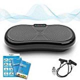 Bluefin Fitness Plataforma Vibratoria de Masaje con Motor Silencioso de 1000w y Altavoz Bluetooth Complemento Deportivo Multifunción Para Adelgazar Tonificar y Relajar Músculos sin Esfuerzo ni Sudor