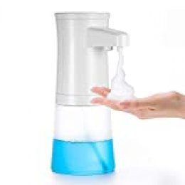 Dispensador de jabón de Espuma automático para el hogar TXVSO, Plato de Manos Libres, Espuma sin Contacto para baño y Cocina, Capacidad de 350 ml, tallarines como Burbujas, diseño Moderno y Elegante