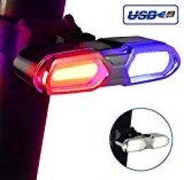 DONPEREGRINO B3 LED Luz Bicicleta Trasera Delantera Potente | Luces Bici Recargable de Máximo Brillo