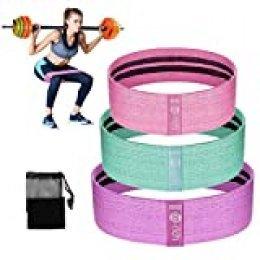 Te-Rich Bandas Elásticas Gluteos para Fitness Banda de Resistencia Ideal para Pilates,Yoga,Rehabilitación,Entrenamiento de Fuerza y Flexibilidad,Quemar Grasa rápidamente,Moldear Piernas y Caderas