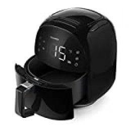 OUSMIN Freidora sin Aceite, 5.5L 1700W Freidora Aire Caliente con 8 Programas, Air Fryer con Función Mantener Caliente, Pantalla Táctil, Temperatura y Tiempo Ajustable, Sin BPA y PFOA