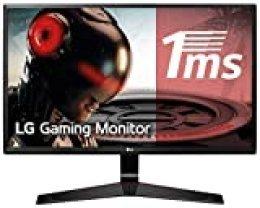 "LG 24MP59G-P - Monitor Gaming FHD de 60,4 cm (23,8"") con Panel IPS (1920 x 1080 píxeles, 16:9, 1 ms con MBR, 75Hz, 250 cd/m², 1000:1, sRGB >99%) Color Negro"