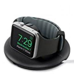 Belkin - Soporte de viaje y de carga (para Apple Watch Series 5, 4, 3, 2, 1 de 38/42 mm con modo de mesa de noche, cable de carga no incluido), negro