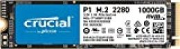 Crucial P1 1TB CT1000P1SSD8 Unidad interna de estado sólido-hasta 2000 MB/s (3D NAND, NVMe, PCIe, M.2)