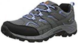 Merrell Moab 2 Lace Waterproof, Zapatillas Deportivas para Interior Unisex Niños, Gris (Grey/Periwinkle), 37 EU