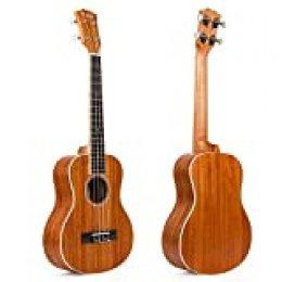 Kmise - Ukelele tenor, 66 cm, madera maciza de caoba, puente de palisandro, mate