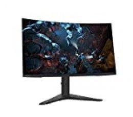 "Lenovo G32qc- Monitor Gaming Curvo de 32"" (Pantalla QHD, 2560 x 1440 pixeles, tiempo de respuesta 4ms, 144 Hz, FreeSync, HDMI, DP), Color Negro"