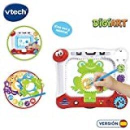 VTech- DigiART Pizarra con Plantillas y Dibu-Ruedas para Colorear (3480-169022) , color/modelo surtido