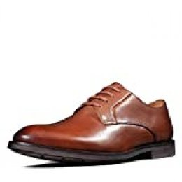 Clarks Ronnie Walk, Zapatos de Cordones Derby, Marrón (British Tan Lea British Tan Lea), 42 EU