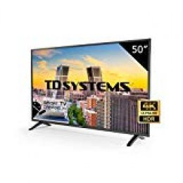 "TD Systems K50DLM8US - Smart TV de 50"" (Ultra HD 4K, resolución 3840 x 2160, HDR, 3X HDMI, VGA, 2X USB) Color Negro"
