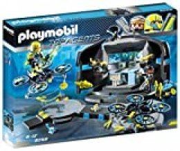 PLAYMOBIL Agentes Secretos-9250 Centro de Mando del Dr.Drone, Color Negro, Gris, Amarillo (9250)