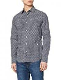 G-STAR RAW Core Super Slim Camisa Casual, Multicolor (Imperial Blue/Milk AO C173-6105), M para Hombre
