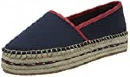 Tommy Hilfiger Sporty Basic Flatform Espadrille, Zapatos de Tacón para Mujer, Azul (Sport Navy Db9), 38 EU