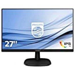 "Philips 273V7QDSB/00 - Monitor IPS de 27"" (Full HD, 1920x1080, Sin bordes, Flicker Free, Low Blue Mode, VESA, VGA + HDMI + DVI)"