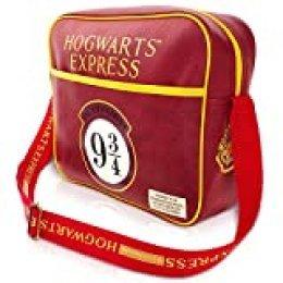 Bolsa de Harry Potter | Bolsa de Mensajero | Producto Oficial de Harry Potter | Colores clásicos de Harry Potter | Apto para Todas Las Casas | Correa Ajustable | Tamaño: 35 cm x 30 cm x 12 cm