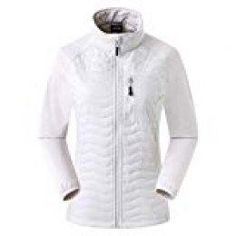 Eono Essentials - Chaqueta de esquí híbrida acolchada para mujer DuPont Sirona (gris claro, L)