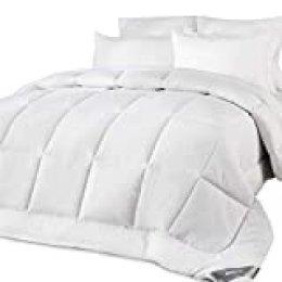 Bedsure Edredón/Relleno Nórdico de Verano para Cama 250x205 cm Blanco - 180 gr/m de Microfibra Suave y Hipoalergénico - Reversible Lavable para 4 Estaciones