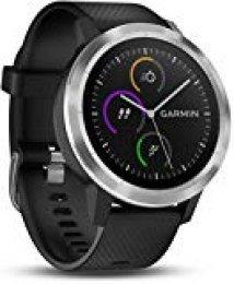 Garmin Vivoactive 3 - Smartwatch con GPS y Pulso en la muñeca, Negro/Plata, M/L (Reacondicionado)