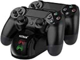 PS4 - Estación de carga dualshock 4 soporte de alimentación para Sony Playstation 4 / PS4 Slim / PS4 Pro mando inalámbrico con cable de carga