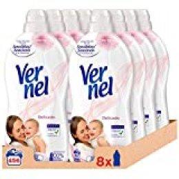 Vernel Suavizante Delicado - Pack de 8, Total: 456 Lavados (10.4 L)