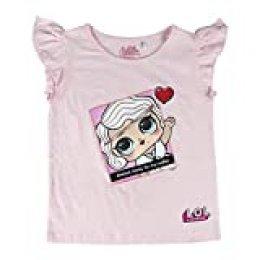 L.O.L. Surprise ! Camiseta para niñas con Las muñecas LOL Rocker, BFF Fancy & Fresh, Diva, M.C Swag, IT Baby, Leading Baby | Top de Verano de algodón para niños (4/5 años, Leading Baby)