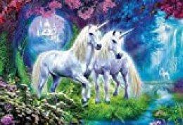 Educa Borras - Genuine Puzzles, Puzzle 500 piezas, Unicornios en el bosque (17648)