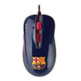 Mars Gaming MMBC, Ratón Sensor Óptico 3200DPI, Oficial FC Barcelona Lassa, Azul