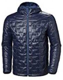 Helly Hansen Lifaloft Hooded Insulator Jacket Chaqueta con Capucha, Hombre, Azul (Navy), L