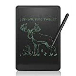 """NEWYES 12"""" Tableta de Escritura LCD, Tableta gráfica, Ideal para hogar, Escuela u Oficina. Pilas Incluidas y 2 Imanes para la Nevera (Edición Especial) (Negro)"""