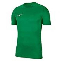 NIKE M Nk Dry Park VII JSY SS Camiseta de Manga Corta, Hombre, Pine Green/White, L