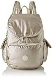 Kipling - City Pack, Mochilas Mujer, Dorado (Cloud Metal), 32x37x18.5 cm (B x H T)