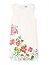 Desigual Vest_Bonney Vestido, Blanco (Crudo 1001), 44 (Talla del Fabricante: 44) para Mujer