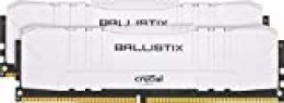 Crucial Ballistix BL2K16G32C16U4W 3200 MHz, DDR4, DRAM, Memoria Gamer para Ordenadores de sobremesa, 32GB (16GB x2), CL16, Blanco