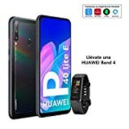 """HUAWEI P40 Lite E - Smartphone con Pantalla FullView de 6,39"""" (Kirin 710, 4 GB + 64GB, Triple Cámara IA de 48MP, Batería de 4000 mAh), Color Negro + Band 4 Negra"""