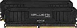 Crucial Ballistix MAX BLM2K16G40C18U4B 4000 MHz, DDR4, DRAM, Memoria Gamer para Ordenadores de sobremesa, 32GB (16GB x2), CL18, Negro