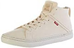 Levi's Global Vulca-High, Zapatillas para Hombre, Blanco (R White 51), 44 EU