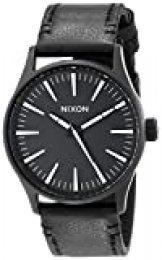 Reloj Cuarzo Nixon para Hombre con Negro Y Negro Cuero A377005