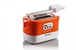 Ariete 159 Toastime - Tostadora con 2 rebanadas con pinzas, cajón recogemigas Bianco/Arancione