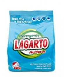 Lagarto Ecopack Detergente en Polvo, MULTIUSO, Lavado Mano, 500 g.- Paquete de 10 x 500 gr- Total 5000 gr