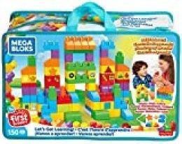 MEGA bloks Juego de Bloques de construcción Construye y Aprende, Multicolor (Mattel FVJ49)