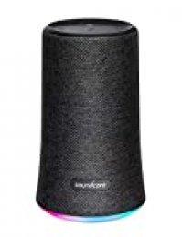 Soundcore Flare Bluetooth Lautsprecher von Anker, Tragbarer & Kompakter Lautsprecher mit 360° Rundum-Sound, Fantastischer Bass, Stimmungs-LED-Licht, IPX7 Wasserfest, 12h Spielzeit für Partys (Schwarz)
